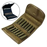 Gexgune Caza Bolsa de munición Plegable Porta Escopeta Porta Balas Rifle Cartucho Portador 14 Carcasas de munición Tácticas Molle Shell Shell (Verde)