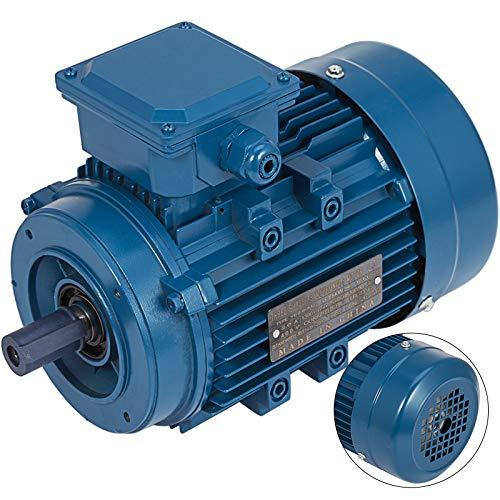 Mophorn Motor Eléctrico Monofásico Motores Électricos de Alta Calidad Motor Hormigonera Base Rígido 3 Fases B14 1500RPM 400V Voltaje 2 Polos Potencia 0.75KW