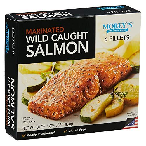 Evaxo Wild Caught Marinated Seasoned Salmon, Frozen (6 Fillets)