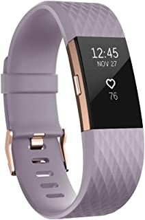 Fitbit Charge 2 Heart Rate & Fitness Wristband - Lavender/Rose Gold, Large