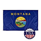 Vispronet - Montana State Flag - 3ft x 5ft Knitted Polyester for Superior Outdoor Performance - Made in The USA (Flag Only)