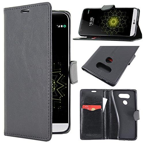 ebestStar - Cover Compatibile con LG G5 H850, G5 Dual, G5 SE, G5 Lite Custodia Portafoglio Pelle PU Protezione Libro Flip, Nero [Apparecchio: 149.4 x 73.9 x 7.7mm, 5.3  ]