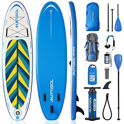 Murtisol Inflatable Paddle Board Stand Up Paddle Ocean Blue