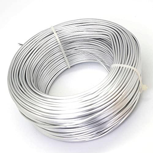 MURUI QA 1mm / 1,5 mm / 2mm / 2,5 mm de Bijoux de Bijoux en Aluminium pour la Fabrication de Bijoux DIY Perles plaquées en Argent d'artisanat en Aluminium YC825 (Color : Silver, Size : 1.5mm 5m)