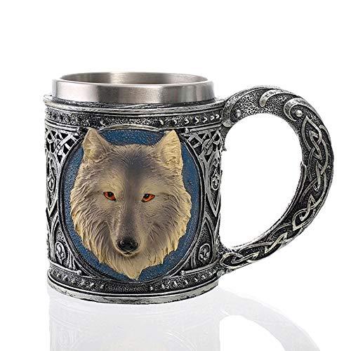 Schedel Mok, Middeleeuwse Bier Mok, Middeleeuwse Viking Warrior Schedel Armor Drinkware Mok, Viking Warrior Schedel Mok Tankard, Geschikt voor Koffie/Bier/Festival voor Koffie/Drank/Sap