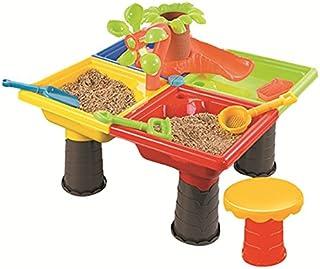 Firlar砂遊び おもちゃ ビーチ 砂遊びセット 水遊び 子供 夏 おままごと おもちゃ 知育玩具 テーブルセット 可愛い ソフトゴム製 イルカ 木 四角 丸 幼児 海辺 園児向け おもちゃ雑貨
