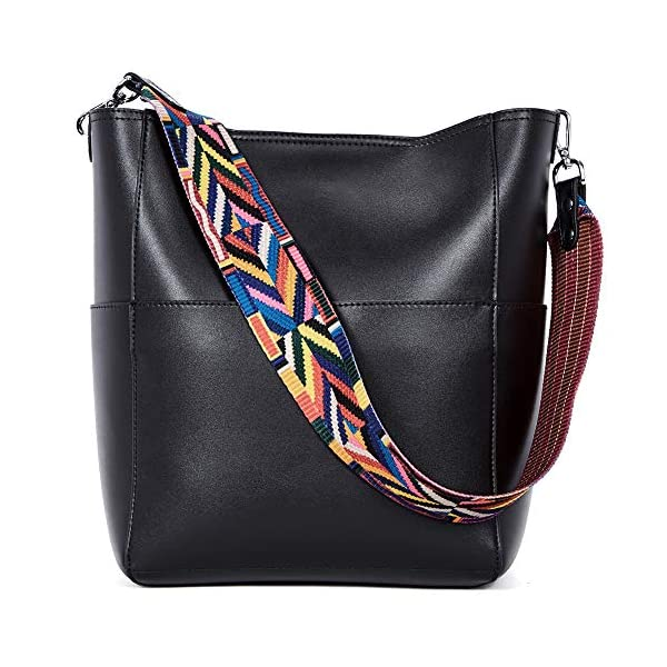 BROMEN Women Handbag Designer Vegan Leather Hobo Handbags Shoulder Bucket Cross-body Purse 1