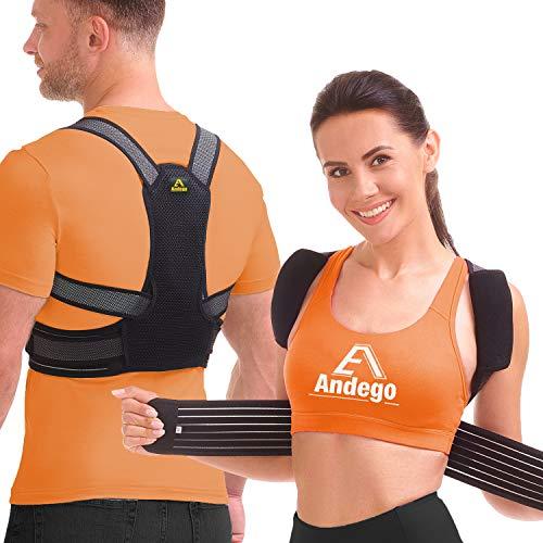 Geradehalter zur Haltungskorrektur, Haltungstrainer Rückenstabilisator für Herren Damen und Kinder mit 2 herausnehmbare Schienen für Rückenstütze, 2 weiche Polster lindern Achsel-Schmerzen, L