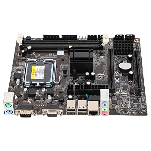 Bewinner LGA775 Motherboard,DDR3 1066/1333MHz Computer Desktop Mainboard Integrated Chip Graphics/Sound Card/Network Card Suitable for Intel G41