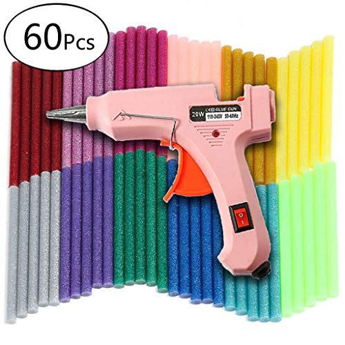 Heißklebepistole, Tacklife Klebepistole mit 60 Glitter Klebesticks Set (100 mm * 7 mm)15 Farben für Schule DIY Kunst, Handwerk und schnelle Reparaturen in Haus