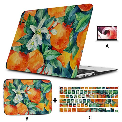 Laptop Case MacBook Pro Orange Colorful Vibrant Sunlight Laptop Shell Case Hard Shell Mac Air 11'/13' Pro 13'/15'/16' with Notebook Sleeve Bag for MacBook 2008-2020 Version