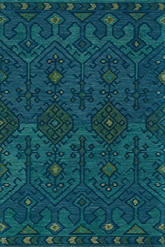 alfombra verde de la marca Loloi