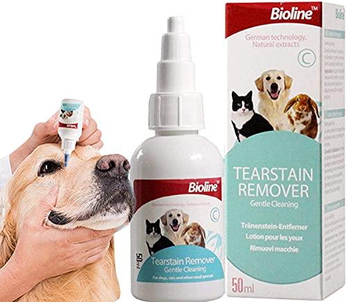 Ögondroppar för sällskapsdjur, naturlig mild, rivfläckar och smutsborttagare, ögonvård torr anti-pruritisk lösning för katt och hund