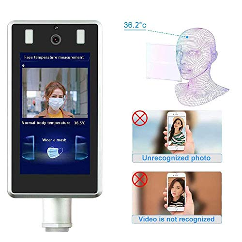 Sale!! Rong-- Infrared Thermometer Face Recognition Body Temperature Measurement System Digital Scre...