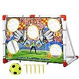 Homcom Cage de Foot But d'entrainement avec Cible dim. 116L x 48l x 76H cm Balle et gonfleur Inclus