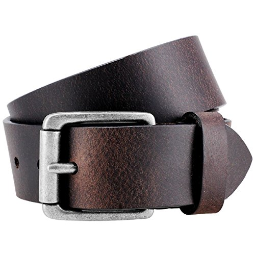 Lindenmann- Cinturón de cuero para hombre, brown, 9021, tamaño/tamaño: 85