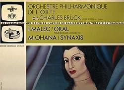 Ohana: Synaxis & Malec: Oral [Erato LP Record]