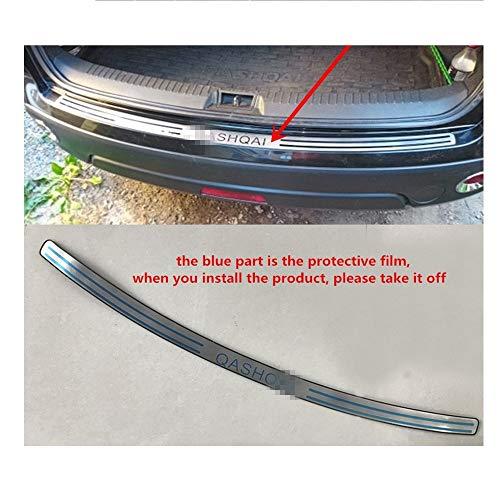 HTSM Kofferraumschutz Für Nissan Qashqai J10 MK1 20018 2007 2009 2010 2011 2012 2013 Edelstahl-Rückseiten-hinterer Stamm-Schwellen-Verschleiss-Platte Schutz Pedal