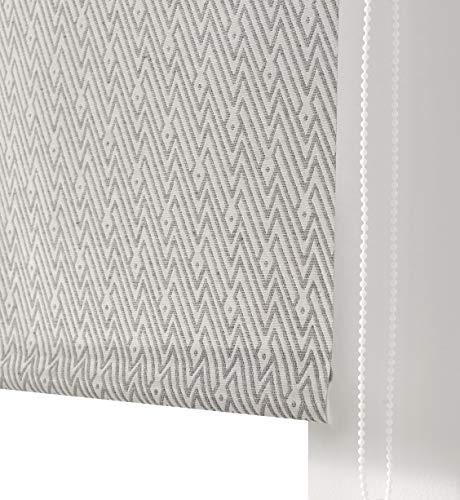 Estoralis MELISANDRE Estor Enrollable Jacquard Translucido, Antracita, 150 x 250 cm