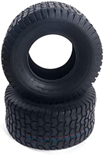nitipezzo Turf Friendly, Set of 2 Tubless 18x8.50-8 Lawn Mower Golf Cart Turf Front,Rear Tires SW: 8.27