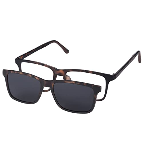 a2d96d186b5 O-LET Prescription Glasses w Over Clip On Sunglasses Polarized for Women Men