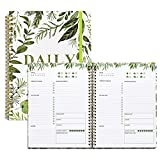 To Do List Notebook Undated: Daily Journal, 5.7'x8.5' Daily To Do List Planner Notebook with Inner Pocket,Water Inter Checklist, Meals Planner, Office Organization Planners for Women