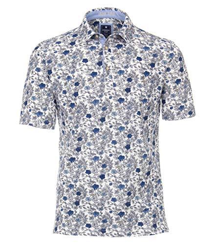 Redmond Herren Polo-Shirt Gemustert Modischer Allover-Print 100% Baumwolle