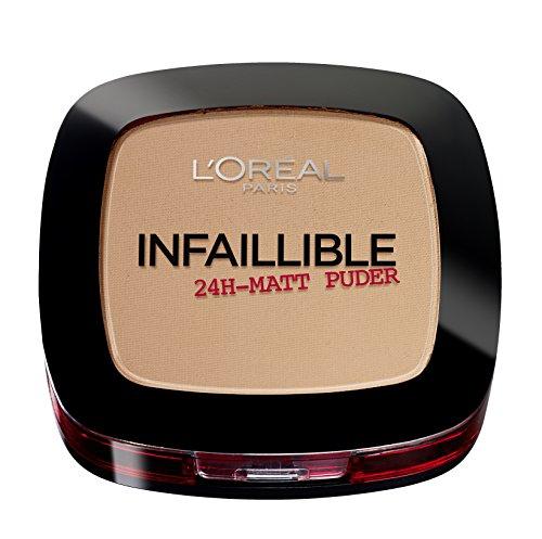 L'Oréal Paris Infaillible Puder, 245 Warm Sand/Kompaktpuder für das perfekte Finish & bis zu 24h Halt/Hautschonendes Powder für alle Hauttypen / 1 x 9 g