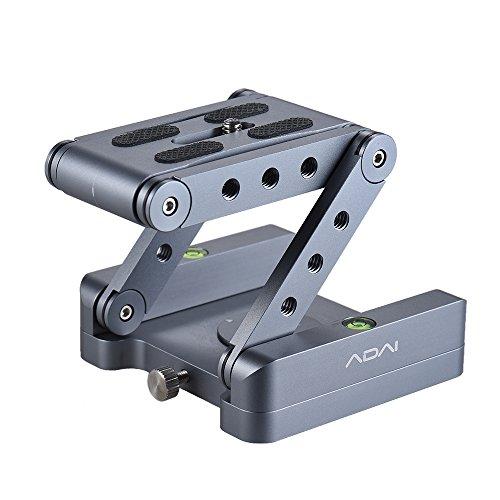 Andoer Z Flex Tilt Head Stativkopf Aluminum Klapp Z Tilt Kopf 360 ° Drehbare Schnellwechselplatte Desktop-Ständer Halter Wasserwaage Für DSLR Kamera Canon Nikon Sony Pentax