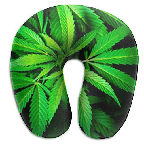 Almohada en Forma de U, Cuello Verde, Cannabis, Viaje, Almohada Multifuncional, Coche, avión