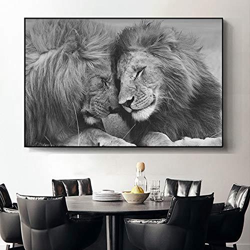 KWzEQ Leinwanddrucke Afrikanischer Löwe postermodernposter und Dekor für Wandkunst60x90cmRahmenlose Malerei