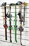 AKR - Soporte para esquís de Madera para Guardar esquís en la Pared, Garaje, Interior y Exterior, para Guardar esquís