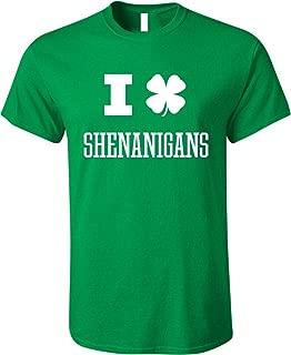 Men's I Clover Shenanigans Funny St. Patrick's Day Irish Shamrock Shirt