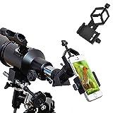 Ueasy Montura soporte universal para adaptador de smartphone compatible con prismáticos, monoculares, telescopios y microscopios.