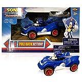 NKOK Sonic & All-Stars Racing Transformed Pullback Car Sonic 9 cm Hedgehog Toys