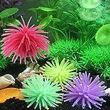 Gather together Aquarium Artificial Simulation Silicone Fake Coral Plant Fish Tank Underwater Aquatic Ornament Landscape Decoration Accessories