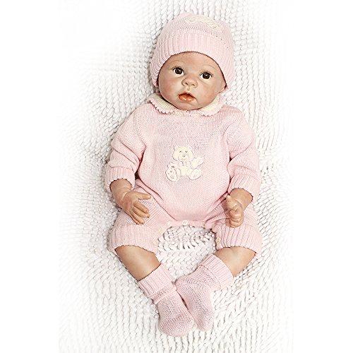 Nicery Munecas Reborn Baby Vinilo de Silicona Suave para Niños y Niñas Cumpleaños 20-22 Inch 50-55 cm Juguetes gx55-20es