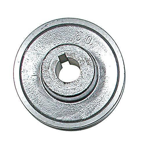Ribitech 01639 Riemenscheibe aus Aluminium, Durchmesser 80 mm
