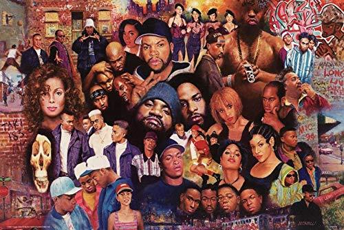Legends of Rap & Hip Hop Poster (24 x 36) (Unframed)