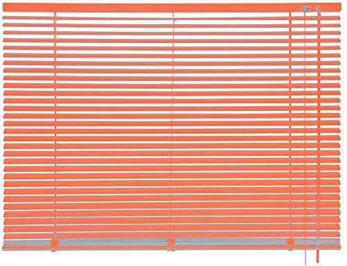 mydeco® 160 x 175 cm Aluminium Jalousie Orange; inkl. Bedienstab, Deckenträger + Befestigungsmaterial Innenjalousie Sonnen- und Sichtschutz; fein regulierbar