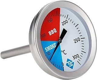 YUZI - Termometro in acciaio INOX da 300 ℃ da 2 cm, per barbecue, barbecue, affumicatore, indicatore di temperatura