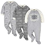Gerber unisex baby 3-pack Organic 'N Play and Toddler Sleepers, Grey Lamb, 0-3 Months US