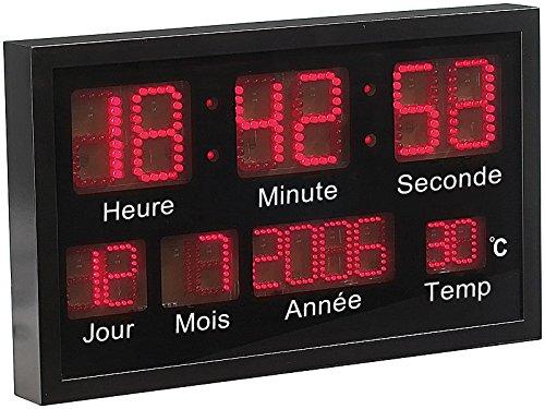 Lunartec Horloge Murale à LED