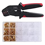 Wire Terminals Crimping Tool Kit,Knoweasy Spade Connectors Crimper and Ratcheting Wire Terminals Crimping Tool of AWG26-16(0.5-1.5mm²) with 300PCS Male and Female Spade Connector