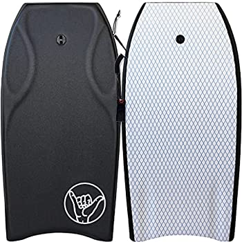 """South Bay Board Co - Razzo 42"""" Bodyboard in Black - Pro Performance - Durable Lightweight with EPS Core Smooth EVA Top Deck & Slick HDPE Bottom"""