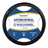 Pilot Automotive MIC-001E Antimicrobial Microban-Infused Universal Car Steering Wheel Cover in Midnight