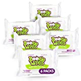 Baby Wipes Unscented by Boogie Wipes, Wet Wipes for Face, Hand, Body & Nose, Made with Vitamin E, Aloe, Chamomile and Natural Saline, 30 Count, Pack of 6