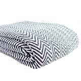 Melange Home Everyday Blanket Collect Yarn Dyed Cotton Blanket Grey Full - Queen