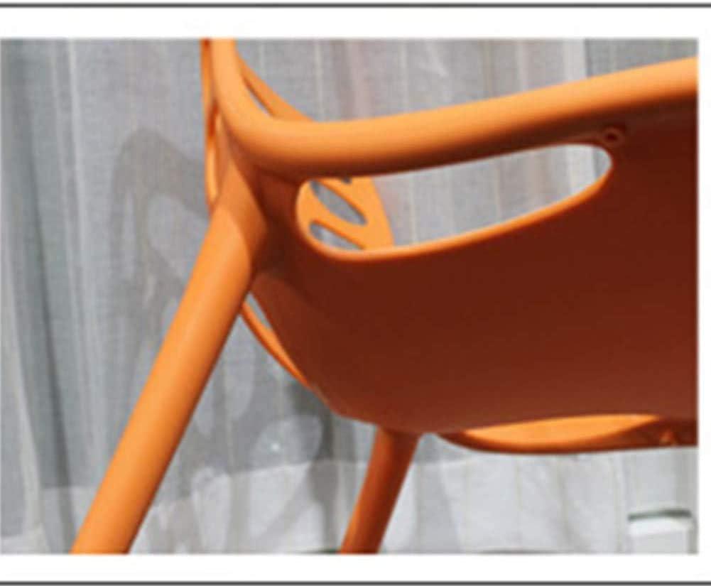GSN Chaise à manger chaise café chaise en plastique moderne minimaliste chaise de loisirs creux fauteuils (Color : Yellow) Red