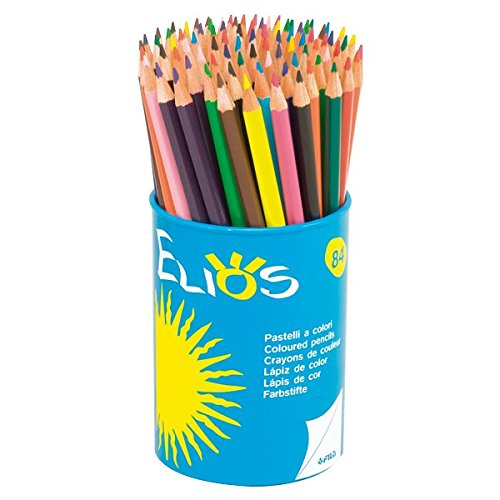 Giotto Elios 5194 00 84-Piece Set of Coloured Pencils in Round Box
